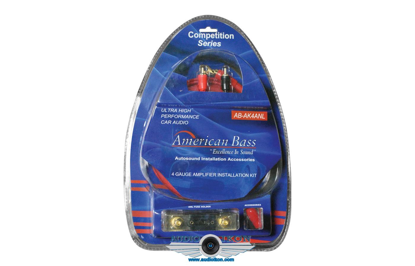 Power Wire Kits Wiring For Car Audio American Bass Ab 4ganl 4 Ga